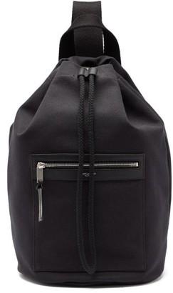 Saint Laurent Drawstring-top Canvas Backpack - Black