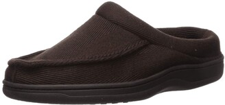 Dearfoams Men's DF Herringbone Moccasin Slipper