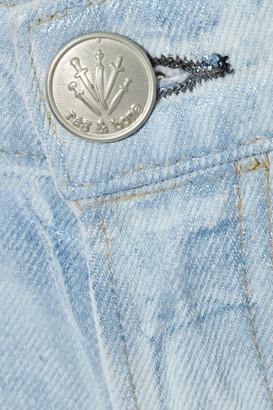 Rag & Bone Maya Cropped Metallic Coated High-rise Straight-leg Jeans
