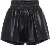 Les Rêveries Faux-leather shorts