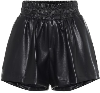 Les Rêveries Faux-leather shorts