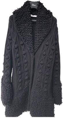 Christian Dior Black Wool Coat for Women