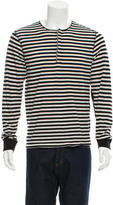Paul Smith Striped Three-Button Henley