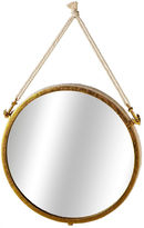 Asstd National Brand Large Gold Wall Mirror with Rope Anchors