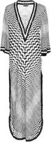 Missoni Mare Greca Lace-Up Crochet-Kit Kaftan