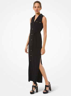 Michael Kors Matte Jersey Belted Dress