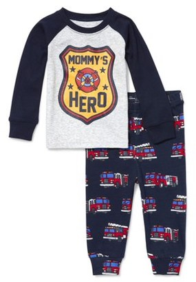 The Children's Place Baby Toddler Boy Long Sleeve Snug-Fit Pajamas, 2Pc Set