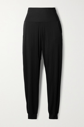 Commando Butter Stretch-micro Modal Jersey Track Pants - Black