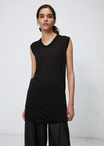 Rick Owens black v neck sleeveless t