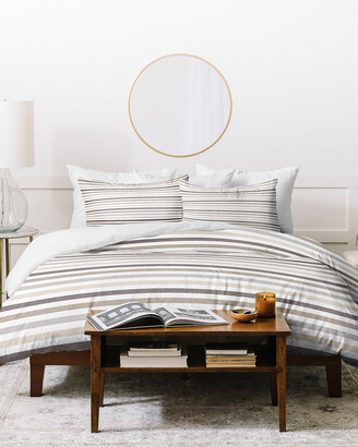Deny Designs Little Arrow Design Co Mod Neutral Linen Duvet Cover Set