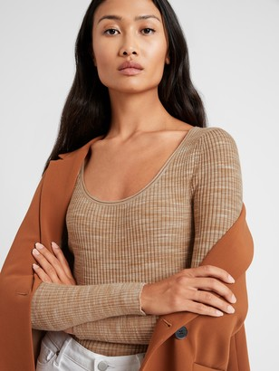 Banana Republic Space-Dye Scoop-Neck Sweater Top