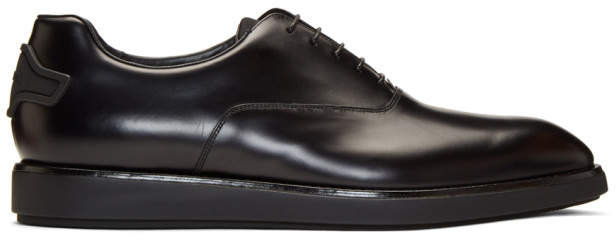 Prada Black Clean Oxfords