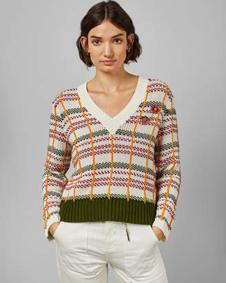 Ted Baker CONFUS Cropped V neck jumper