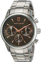 Vince Camuto Men's VC/1085DGSV The Chairman Multi-Function Dial Silver-Tone Bracelet Watch