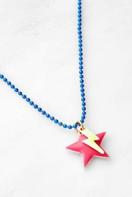 Urban Outfitters Laviandbelle Lightning Star Chain Necklace - Pink ALL at