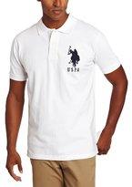 U.S. Polo Assn. Men's Solid Short Sleeve Pique Polo, White