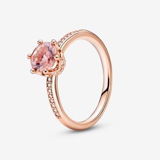 Pandora Pink Sparkling Crown Solitaire Ring