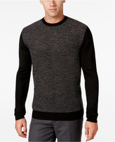 Ryan Seacrest Distinction Men's Heathered Colorblocked Sweater, Only at Macy's