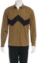 Burberry Colorblock Poplin Button-Up Shirt