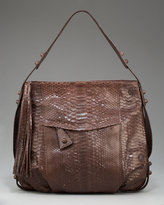 Carlos Falchi Python Front-Pocket Hobo, Large