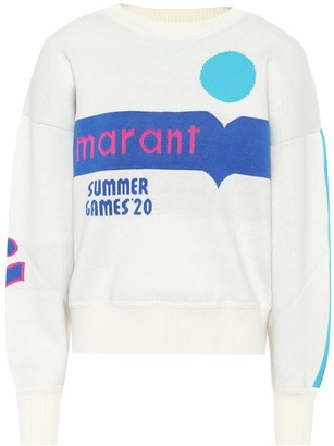 Etoile Isabel Marant Kleden logo cotton-blend sweater