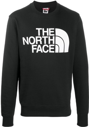 The North Face Logo-Print Crew Neck Sweatshirt