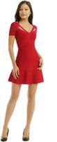 Herve Leger Spellbinding Red Dress