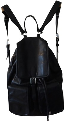 Theyskens' Theory Black Leather Backpacks