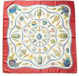 """Hermes qu'import Le Flacon"""""""" By Catherine Baschet Silk Scarf."""