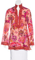 Tory Burch Floral Print Tunic Top