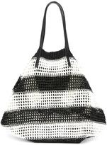 Ermanno Scervino striped tote - women - Cotton/Leather - One Size