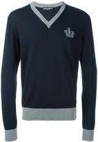 Dolce & Gabbana crown logo jumper - men - Cotton - 46