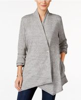Style&Co. Style & Co Petite Heathered Draped Cardigan, Only at Macy's