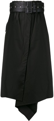 Sacai Belted Asymmetric Skirt