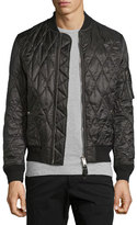 Burberry Grandy Lightweight Quilted Bomber Jacket, Black