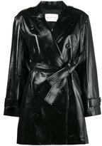 Olivier Theyskens double breasted trench coat