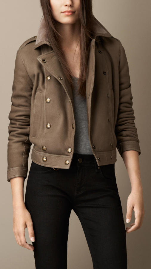Burberry Merino Shearling Double-Breasted Jacket