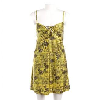 John Galliano Yellow Leather Dress for Women