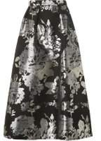 Dorothy Perkins Womens **Luxe Silver Floral Maxi Skirt- Silver