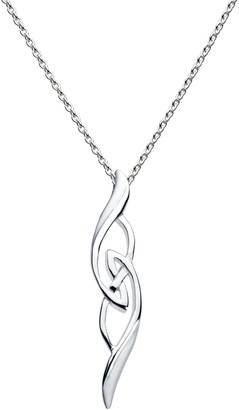 Heritage Women's Sterling Silver Celtic Knotwork Necklace of Length 18 inch