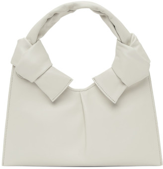 Little Liffner Off-White Knot Evening Bag