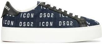 DSQUARED2 Icon denim platform sneakers
