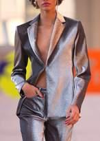 Area Dex Tailored Blazer In Silver Slate