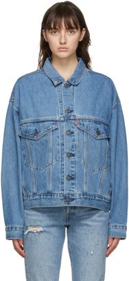 Levi's Levis Blue Denim Stay Loose Trucker Jacket