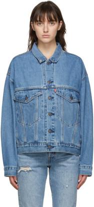 Levis Blue Denim Stay Loose Trucker Jacket
