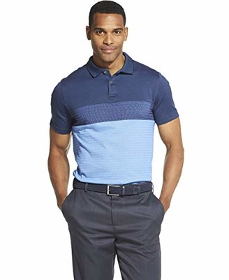 Van Heusen Men's Flex Short Sleeve Stretch Colorblock Polo Shirt