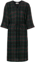 Hache checked knee length dress