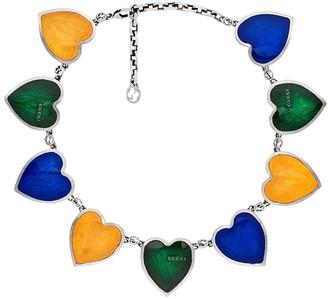 Gucci Enamel Heart Necklace