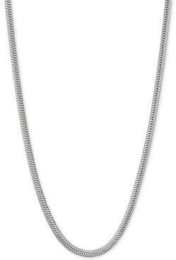 """Giani Bernini Snake Link 18"""" Chain Necklace in Sterling Silver"""