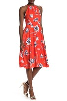 Eliza J Floral Print Halter Dress